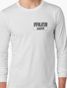 Asylum Inmate #0801 aka Joker's uniform Long Sleeve T-Shirt