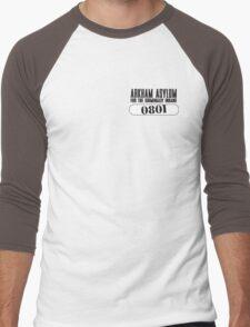 Asylum Inmate #0801 aka Joker's uniform Men's Baseball ¾ T-Shirt