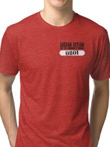 Asylum Inmate #0801 aka Joker's uniform Tri-blend T-Shirt
