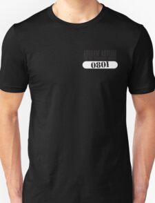 Asylum Inmate #0801 aka Joker's uniform Unisex T-Shirt