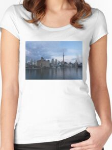 TO Harbour - Toronto's Skyline From The Island Airport Women's Fitted Scoop T-Shirt
