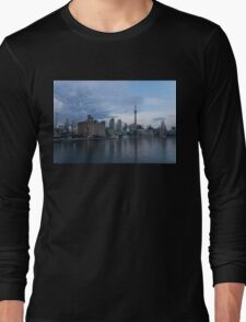 TO Harbour - Toronto's Skyline From The Island Airport Long Sleeve T-Shirt