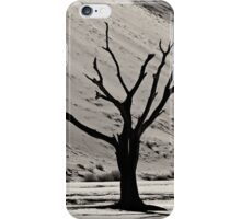 Dead Vlei with dead trees in desert landscape of Namib BW 03 iPhone Case/Skin