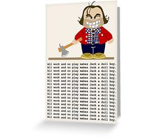 Jack Torrance Greeting Card