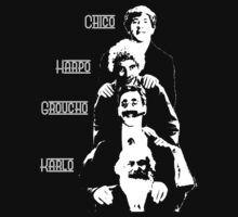 Communist Marx Brothers - Dark background by Buddhuu