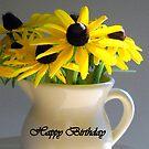 Happy Birthday Flowers by debbiedoda