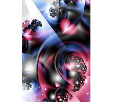 Raspberry Swirl Photographic Print