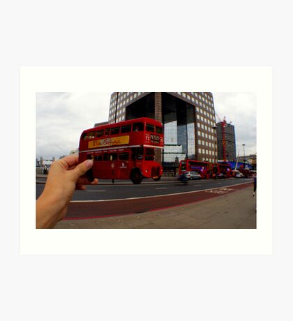 London Bus Cut Out  Art Print