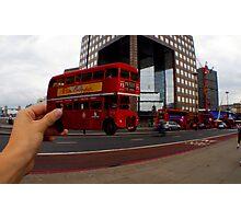 London Bus Cut Out  Photographic Print