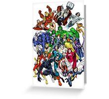 Avengers! Greeting Card