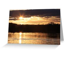 Night time is coming this day is leaving us. Greeting Card