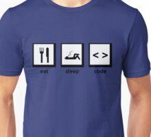 Eat, Sleep, Code Unisex T-Shirt