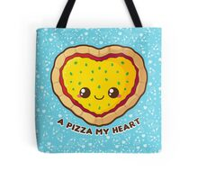 A Pizza My Heart [Blue] Tote Bag