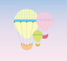 Pastel Hot Air Balloons by evokevisual