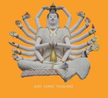 Thailand Temple Statue - tee by DAdeSimone