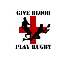 Give Blood Play Rugby by Ricaso