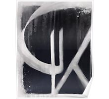 Cartouche in Black and White II Poster