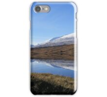 Reflections on Loch Tulla - distant mountains iPhone Case/Skin