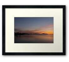 Smooth And Sleek TO Sunrise Framed Print