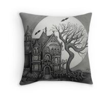 Spooky House Throw Pillow