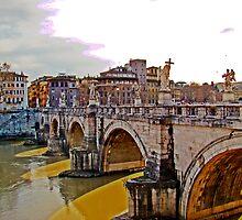 Ponte San Angelo, Rome, Italy by Al Bourassa