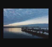Morning Jetty - A Luminous Daybreak On Harbourfront Kids Clothes
