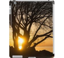 Fiery Sunrise - Like A Golden Portal To Another World iPad Case/Skin