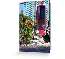 What's Behind the Red Screen Door? Greeting Card