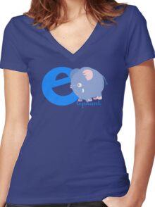 e for elephant Women's Fitted V-Neck T-Shirt