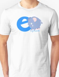 e for elephant Unisex T-Shirt