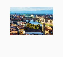 Impressions Of Florence - Arno River And The Bridges From Above Unisex T-Shirt