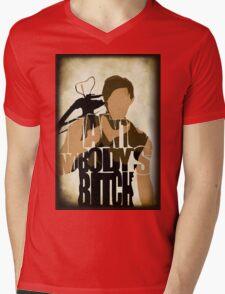 Daryl - I Ain't Nobody's Bitch - The Walking Dead Mens V-Neck T-Shirt