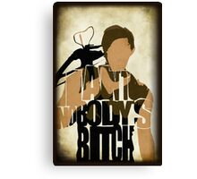 Daryl - I Ain't Nobody's Bitch - The Walking Dead Canvas Print
