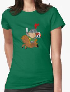 little knight with his horse Womens Fitted T-Shirt