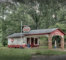 Esso Station by Mark Powers
