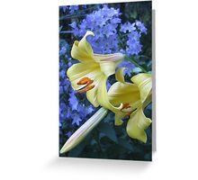 Lilies and Campanula Greeting Card