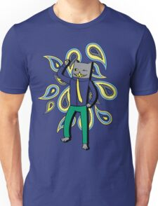 Paisley Party Kitty Unisex T-Shirt