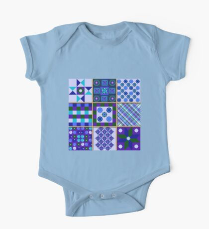 Proud as a Peacock - Quasi-Quilt One Piece - Short Sleeve
