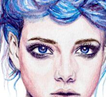 Blue Haired Girl Sticker