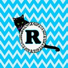 R Cat Chevron Monogram by gretzky