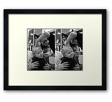 Haircut Happy Framed Print