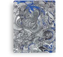Black & Blue Mirror Canvas Print