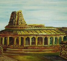 Landscape - Temple by Praveen Nair