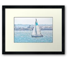 Seaport Sail CALIFORNIA Framed Print