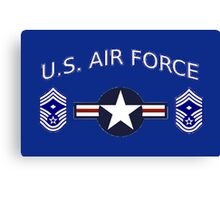 USAF Chief Master Sergeant 1st Canvas Print