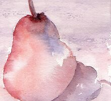 Pear in Purple by Marsha Woods