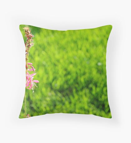 The undead deceased flower that still lives Throw Pillow