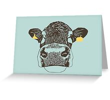 Lady Cow Greeting Card