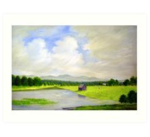 LANDSCAPE WITH WATERBIRDS Art Print