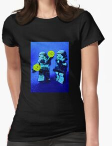 Raving stormtroopers by Tim Constable Womens Fitted T-Shirt